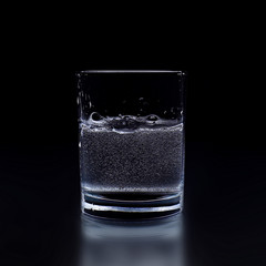 Glass of pure water