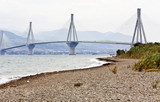Largest in length cable stayed bridge of the world, in Greece. poster