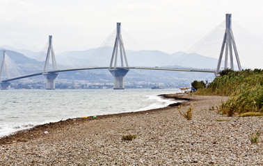 Largest in length cable stayed bridge of the world, in Greece.