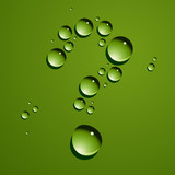 Vector dew drops question mark