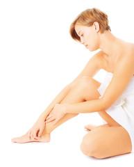 Woman Massaging Herself