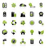 Environment icon set poster
