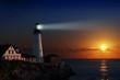 Leinwandbild Motiv Lighthouse at dawn