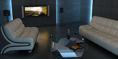 Interior design of home cinema VI