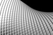 Abstract wave shape aluminum background