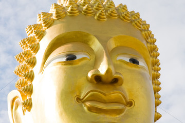 Buddha image in a temple at Thailand