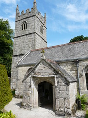 Church in the grounds of Lanhydrock Castle in Cornwall England