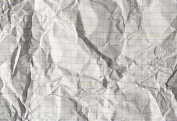 Crumpled squared paper