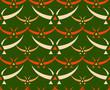 Classic japanese birds seamless textile pattern