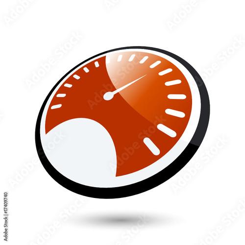 Vector  tachometer geschwindigkeit schnell logoTachometer Logo