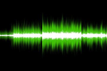sound wave #4 (green)