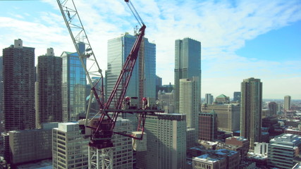 construction crane time lapse