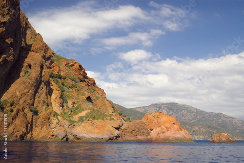 Rocks of Scandola peninsula in Corsica, France, Europe