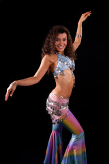 Zumba dance teacher in costume