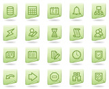 Database web icons, green document series poster