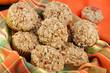Basket of Pumpkin, Pecan and streusal muffins
