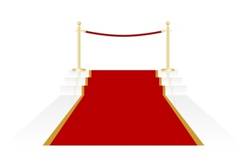 Roter Teppich Vektor