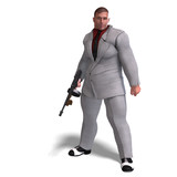 bad mafia gun man