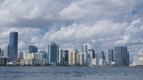 Time lapse with slow pan of the Miami skyline poster