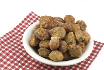 A Bowl of Fresh Fried Okra