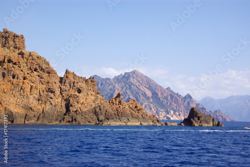 rocks of Scandola National Reserve in Corsica