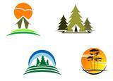 Tourism symbols poster