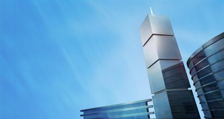 3D city concept panorama