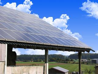 Solarzellen auf dem Land