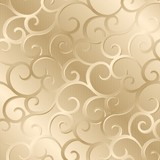 Bronze spirals texture, pattern; vector illustration