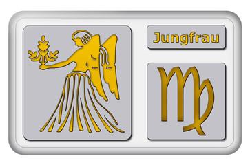 3D-Button - Tierkreiszeichen - Jungfrau