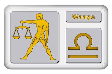 3D-Button - Tierkreiszeichen - Waage