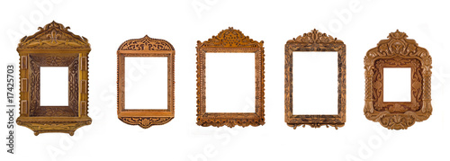 Collage of carved Frames