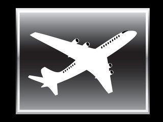 Plane vector icon.