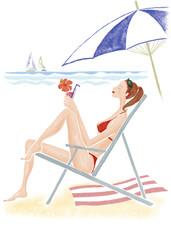 海_水着の女性