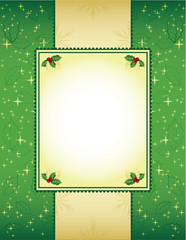 Green and gold Christmas background