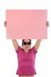 notiz anzeige mitteilung pink