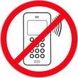 Panneau 'Usage du téléphone portable interdit'