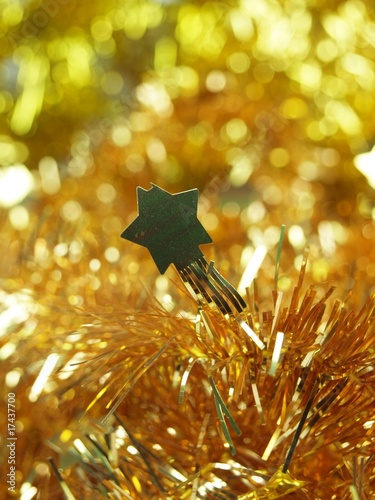 Golden star, christmas decoration