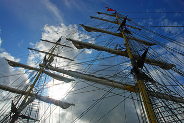 Masts of tall ship