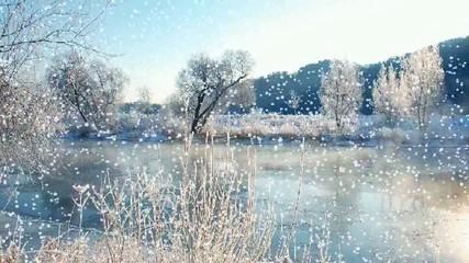 Flußlandschaft im Winter