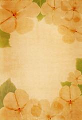 vintage paper with floral design