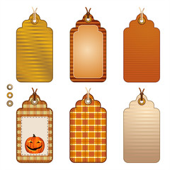 Autumnal Paper Tags