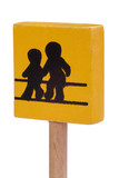Children Crossing Sign - on angle