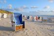 Leinwanddruck Bild - Strandkörbe auf Sylt