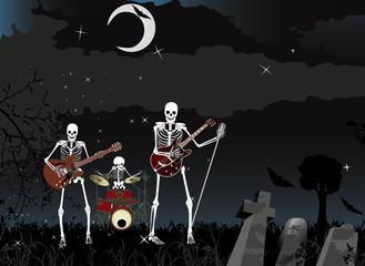 Music poster;Skeleton Band