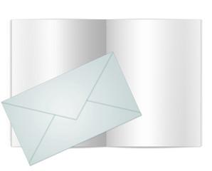 Blank Envelope Book Illustration