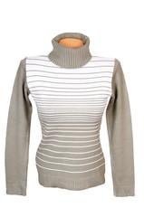 Elegance warm winter sweater on a white.