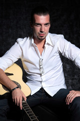 Latino guitar player