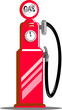 Petrol fuel pump station
