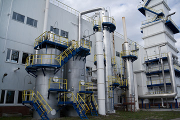 outside view of cryogenic (air separation) plant in Russia